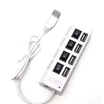 4-Port USB 2.0 Hub Charger with Individual Power Switches USBExtender USB 2.0 Hub High-Speed Data Transfer Ports