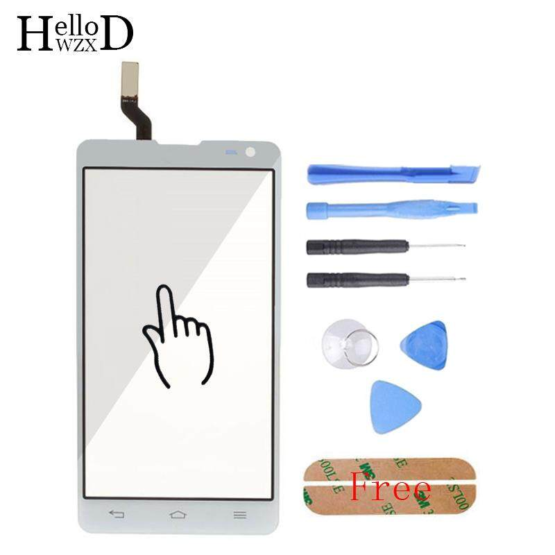 4.7 inch New For LG Optimus L9 II 2 D605 B0567 Touch Panel Touch Screen Digitizer Front Glass Panel Parts Logo Flex Cable Capative + Free Tools + Free Adhesive - intl