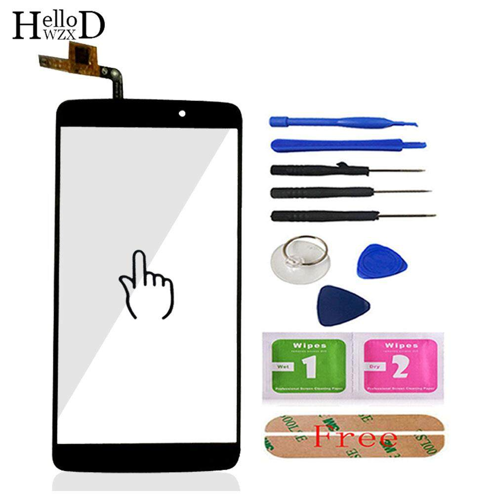 5.5inch Front For Alcatel One Touch Idol 3 6045 OT6045 6045Y Touch Glass Screen Digitizer Panel Lens Sensor Flex Cable Adhesive - intl