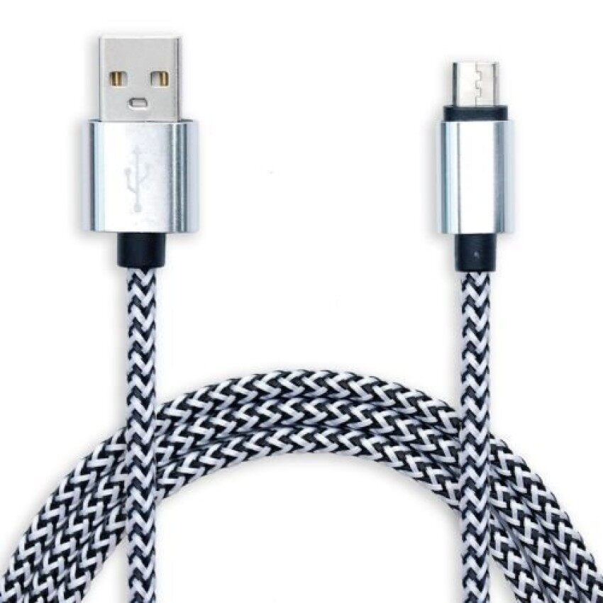 5PCS Long 3m Micro USB Cable Data Charger Lead for HTC M8 M9 SamsungSony LG ZTE Zopo (Silver) - intl