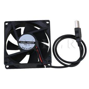 5V Portable USB Cabinet Cooling Computer Case Fan CPU Cooler Black