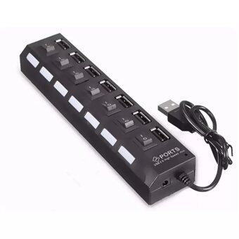 7-Port USB 2.0 Hub Charger with Individual Power Switches USBExtender USB 2.0 Hub High-Speed Data Transfer Ports
