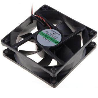 8CM Cooling Fan 8025 DC 12V Computer CPU Fan Power Supply Fan 45cmCable P0.36