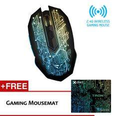 Alcatroz X-Craft Air Tron 5000 Rechargeable Wireless Gaming Mouse Free Pro-Gaming Mousemat Malaysia