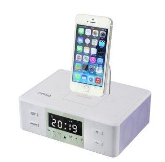 all in one gadgets portable alarm clock fm radio charging docking station spe. Black Bedroom Furniture Sets. Home Design Ideas