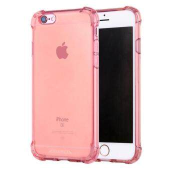 Anti-shock Silicone TPU back cover case for Apple iPhone 6S Plus/ 6Plus (Rose Gold)