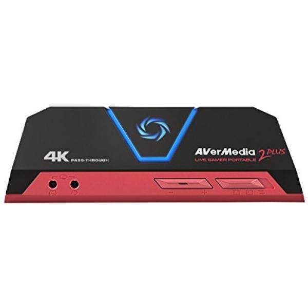 AVerMedia Live Gamer Portable 2 Plus, 4K Pass-Through, Full HD 1080p60 USB Game Capture, Ultra Low Latency, Record, Stream, Plug & Play, Party Chat for XBOX, PlayStation, Nintendo Switch (GC513) - intl