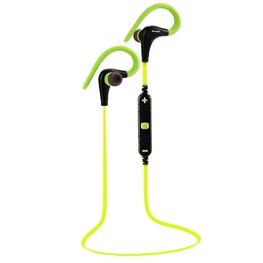 Awei A890BL Wireless Sports Bluetooth 4.0 Earphone With HandsfreeFunction (Green) - intl