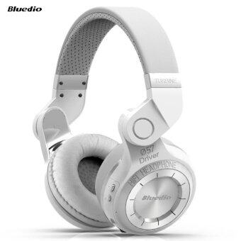 Bluedio T2 Foldable Style Bluetooth V4.1 +EDR Wireless Stereo Headset with Mic (White)