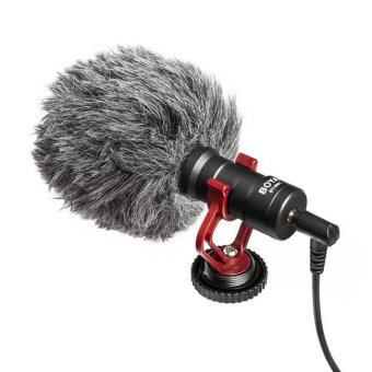 BOYA BY-MM1 Condenser Microphone with Furry Windshield for DSLRCellphone