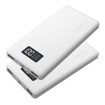 (BUNDLE) 2 x PINENG PN-963 10000mAh Lithium Polymer Power Bank (White)