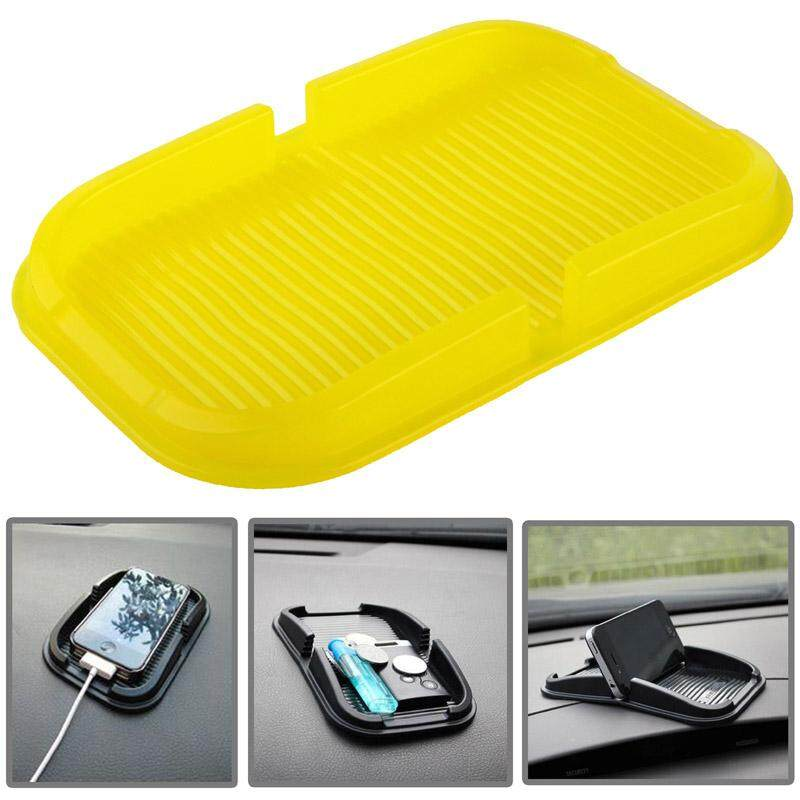 Car Dashboard Anti-skid Magic Sticky Silicone Gel Pad / Holder, For iPhone, Galaxy, Sony, Lenovo, HTC, Huawei, and other Smartphones(Yellow) - intl