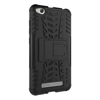 Cool Tyre Pattern Kickstand PC + TPU Hybrid Cover for Xiaomi Redmi4a - Black