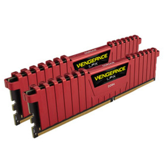Corsair Vengeance(R) LPX 16GB (2x8GB) DDR4 DRAM 3000MHz C15 Memory Kit - RED