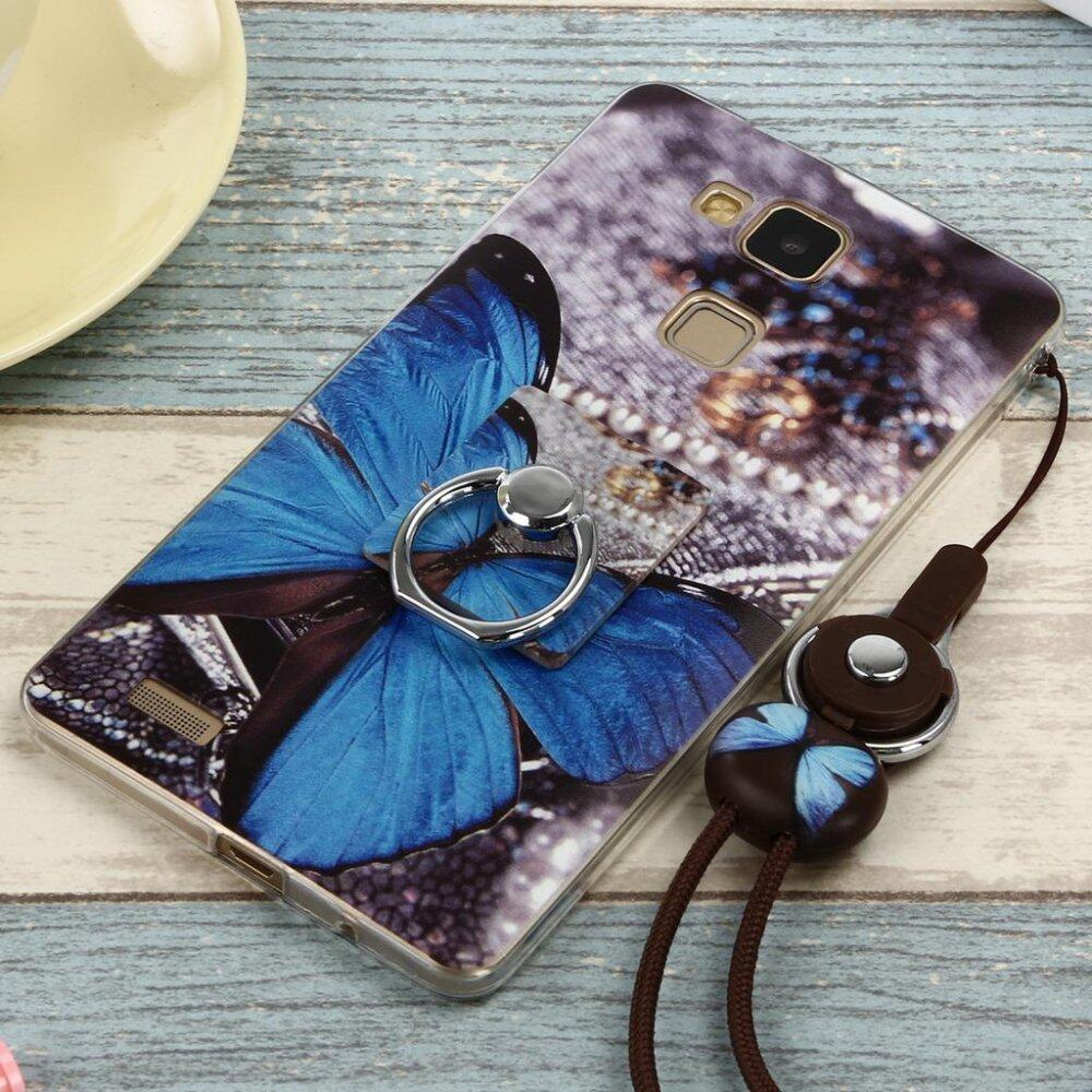 Cute Pattern Soft TPU Case for Huawei Mate 7 Flexible Cover with Ring .