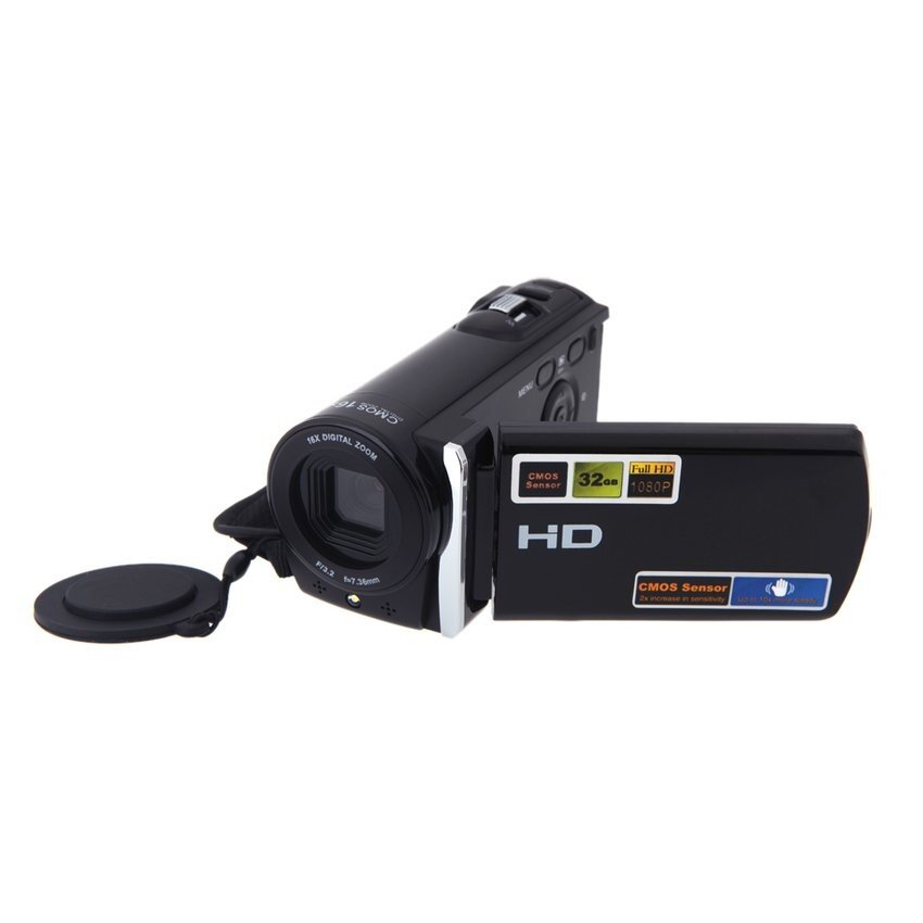 Digital Video DV Camera 3.0�x9D LCD 1080P Full HD 16x ZoomCamcorder270 Rotation HDV-601S (Black) - intl