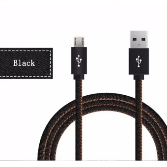 DTD Micro USB Cable 1M Fast Charger & Data Cable Denim BraidedCable Mobile Phone USB Charger Cable For Samsung HTC Huawei xiaomi