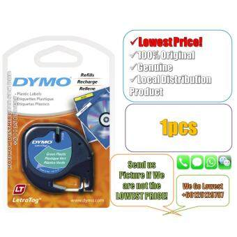 Dymo Letratag Label Maker Tape/Refill Plastic Green 12mm x 4m(Original) Label Printer Refill