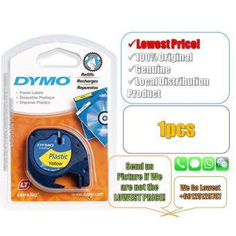 Dymo Letratag Label Maker Tape/Refill Plastic Yellow 12mm x 4m(Original) Label Printer Refill