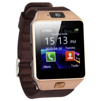 DZ09 Bluetooth Smart Watch Wristwatch with Camera Sync to AndroidIOS Smart Phone Sim Card Function Camera Memory Card Function(Gold)