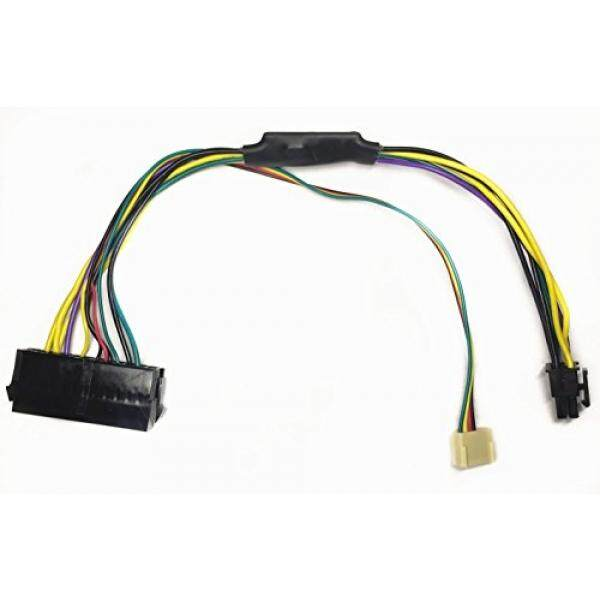EZSync ATX PSU (24-Pin) to HP Motherboard (6-Pin PCI-E, 2 ports) Power Adapter Cable for HP Z220/Z230 Workstation, 11 inches and 18 AWG, EZSync910 - intl
