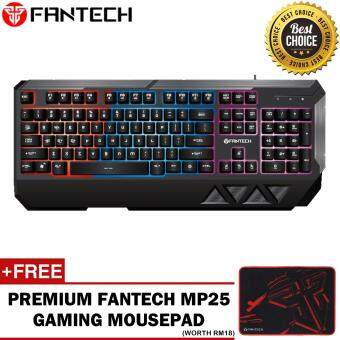 FANTECH MADMAN K11 Mechanical Feel Professional USB Wired Colorful Backlight Gaming Water Resistant Floating-keys Keyboard for Desktop Laptop for PC (Black) [Newest Version]