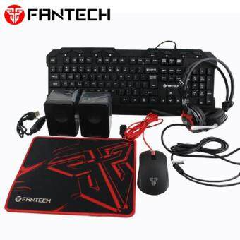 Fantech Office Gamer PC Package with Keyboard, Mice, Headset, Mouse Pad and Speaker