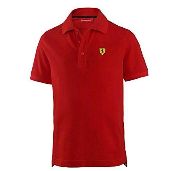 Ferrari Anak-anak Merah Perisai Logo Polo Kaus-Internasional