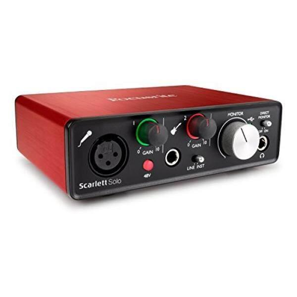 Focusrite Scarlett Solo (2nd Generasi) USB Audio Antarmuka dengan Pro Tools Pertama-Internasional