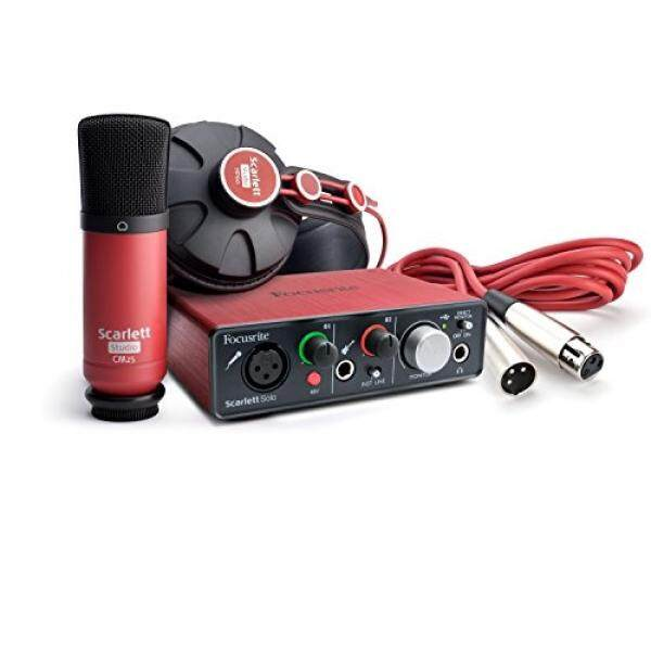 Focusrite Scarlett Solo Studio (1st GENERATION) USB Antarmuka Audio dan Perekaman Bundel-Intl
