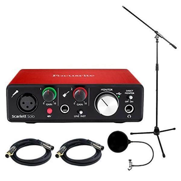 Focusrite Scarlett Solo USB Antarmuka Audio (2nd Generasi) Termasuk Bonus Teknis Pro Tripod Stand dan Lainnya-Intl