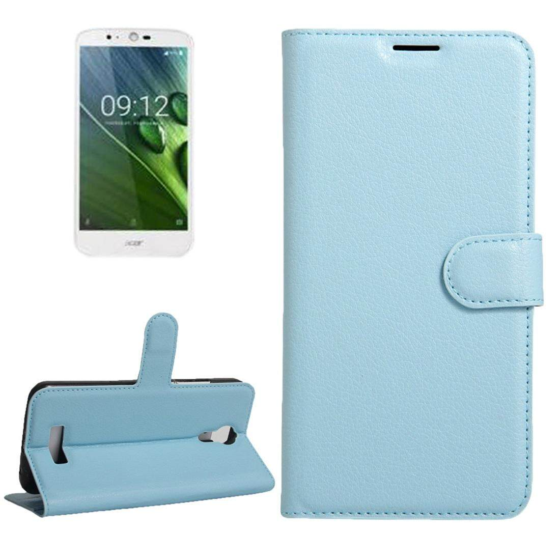 For Acer Liquid Zest Plus / Z628 Litchi Texture Horizontal Flip Leather Case with Magnetic Buckle & Holder & Card Slots & Wallet(Blue) - intl