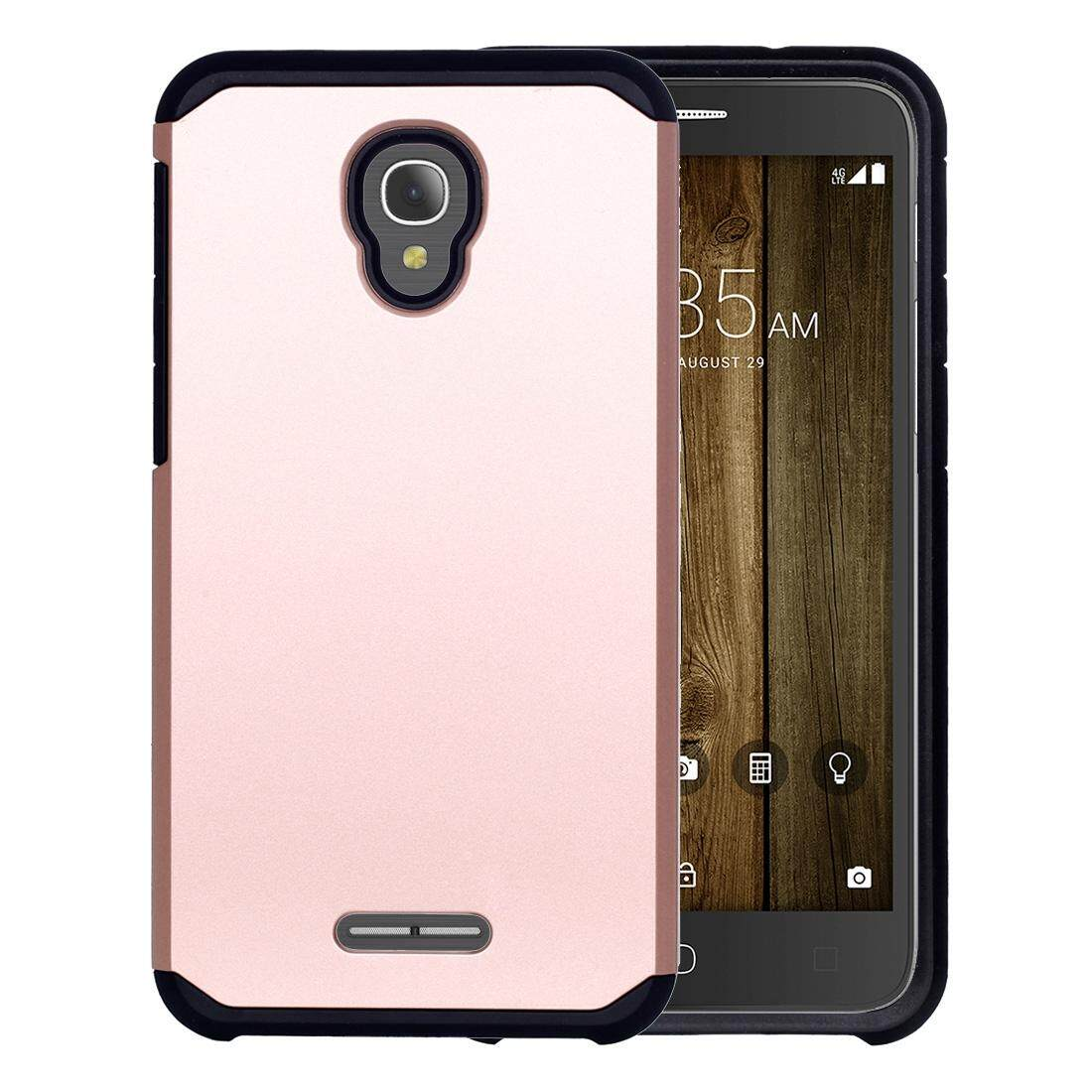 For Alcatel Fierce 4 Corselet TPU + PC Combination Back Case(Rose Gold) - intl