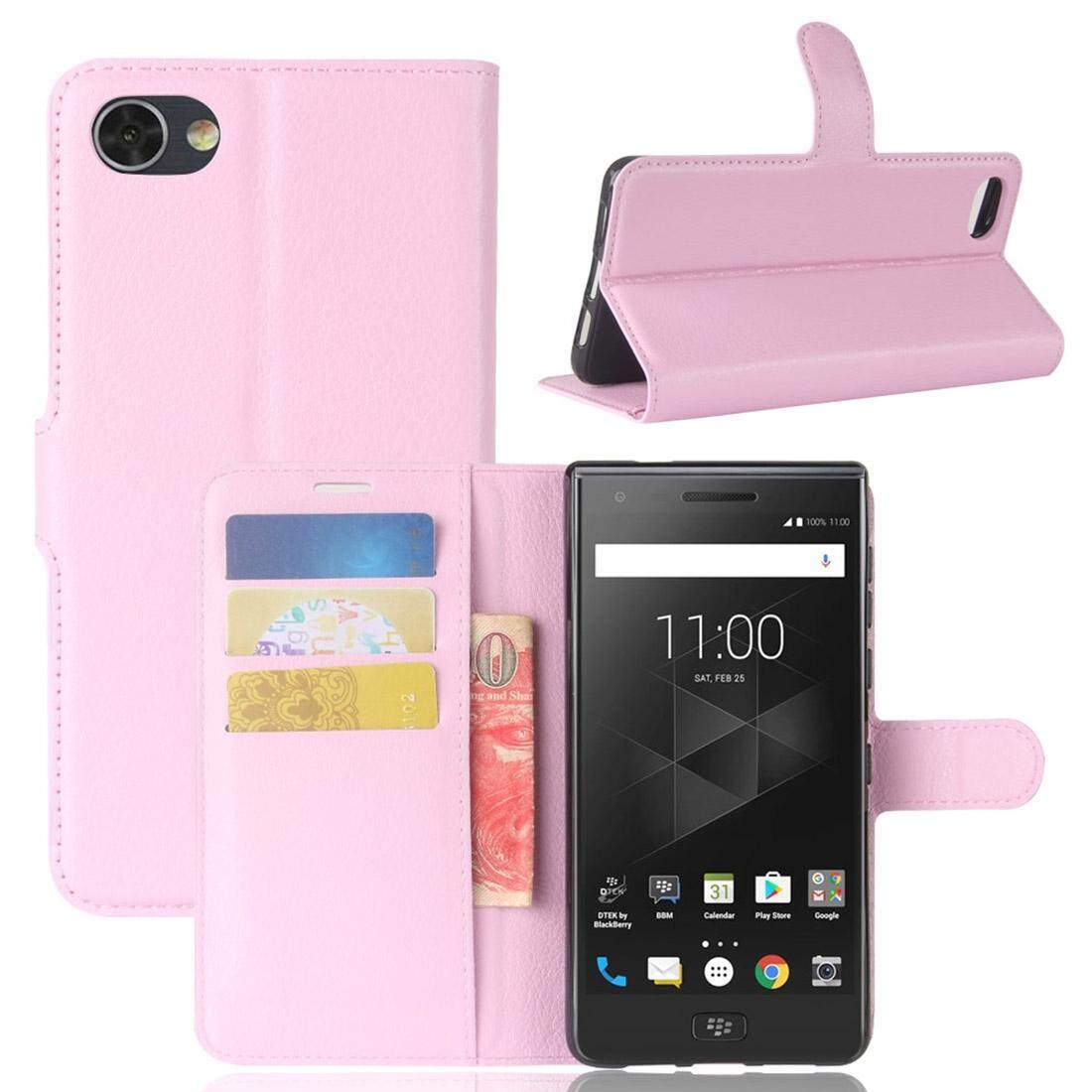 For BlackBerry Motion Litchi Texture Horizontal Flip Leather Case with Holder & Card Slots & Wallet(Pink) - intl