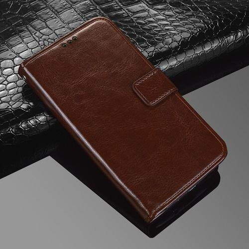 For Blackview S8 Wallet Stand Vintage Crazy Horse PU Leather Case Flip Folio Magnetic Closure Book Cover with 3 Credit Card Holders - intl