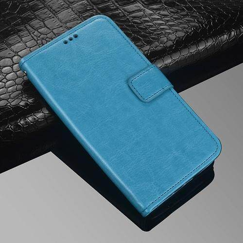 For Doogee BL5000 Wallet Stand Vintage Crazy Horse PU Leather Case Flip Folio Magnetic Closure Book Cover with 3 Credit Card Holders - intl