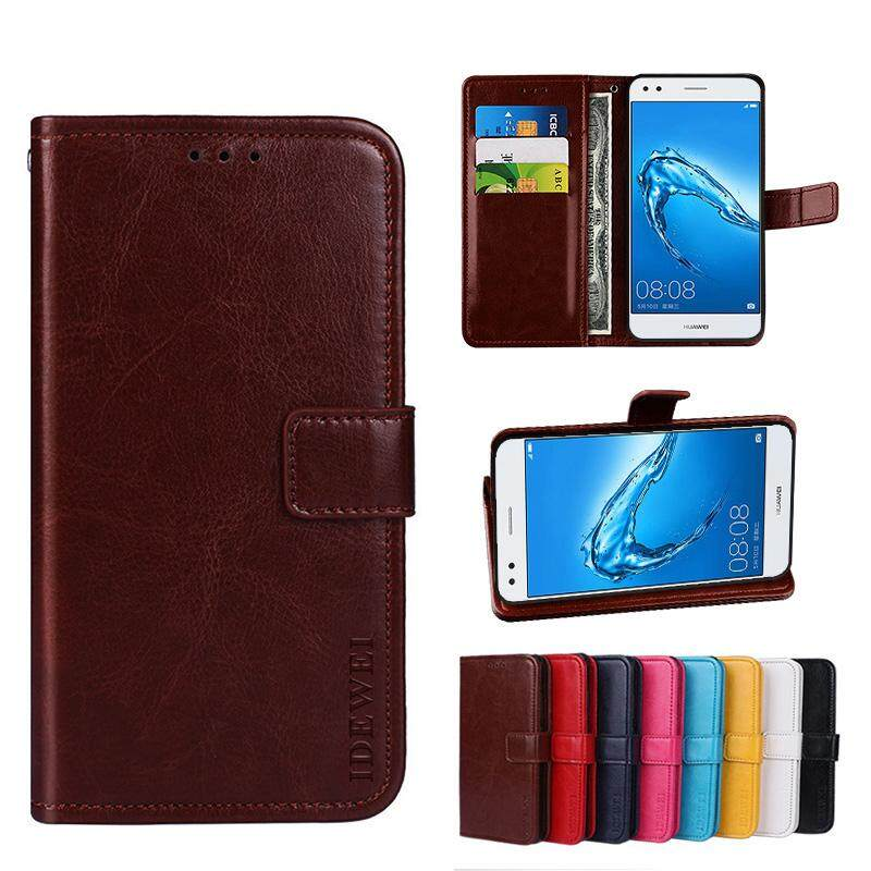 For Doogee X10 Wallet Stand Vintage Crazy Horse PU Leather Case Flip Folio Magnetic Closure Book Cover with 3 Credit Card Holders - intl