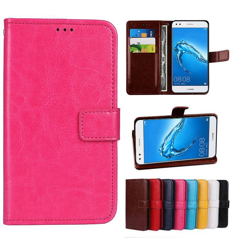 For Doogee Y300 Wallet Stand Vintage Crazy Horse PU Leather Case Flip Folio Magnetic Closure Book Cover with 3 Credit Card Holders - intl