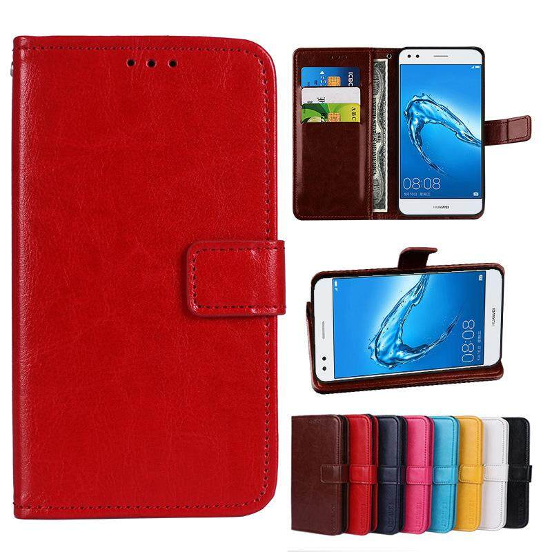 For Doogee Y6 Wallet Stand Vintage Crazy Horse PU Leather Case Flip Folio Magnetic Closure Book Cover with 3 Credit Card Holders - intl