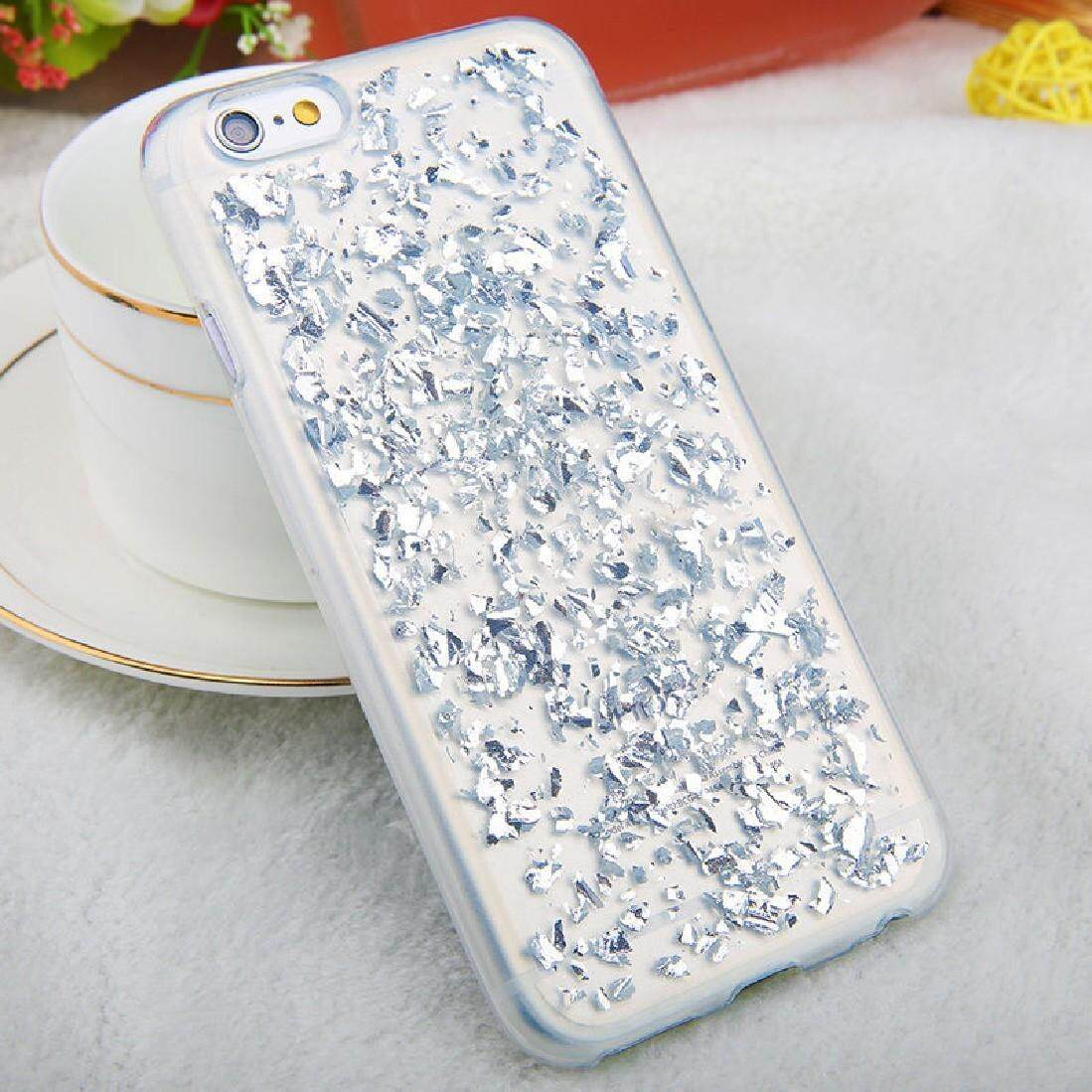 For iPhone 6 & 6s Scattered Platinum Pattern TPU Protective Case(Silver) - intl