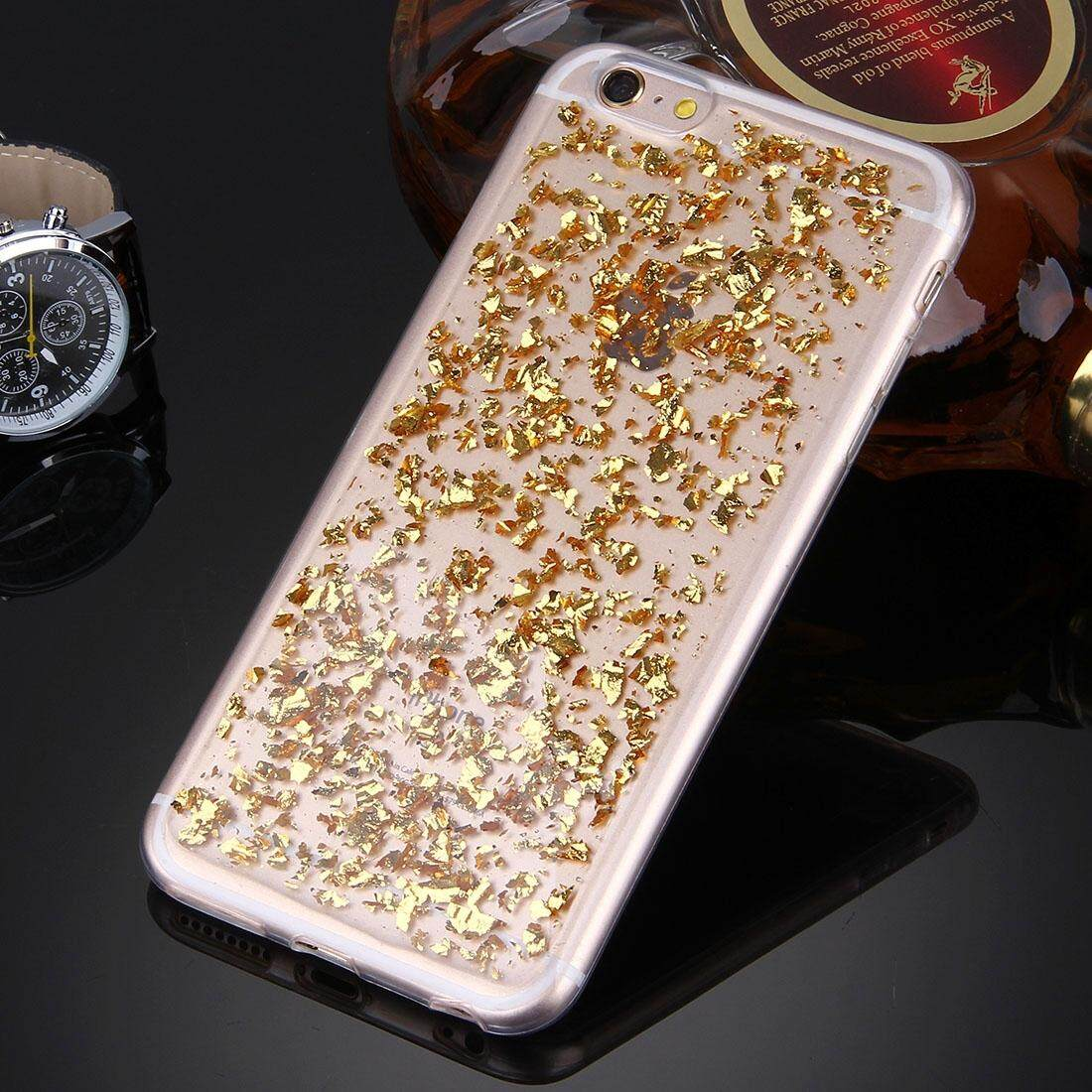 For iPhone 6 Plus & 6s Plus Scattered Platinum Pattern TPU Protective Case(Gold) - intl