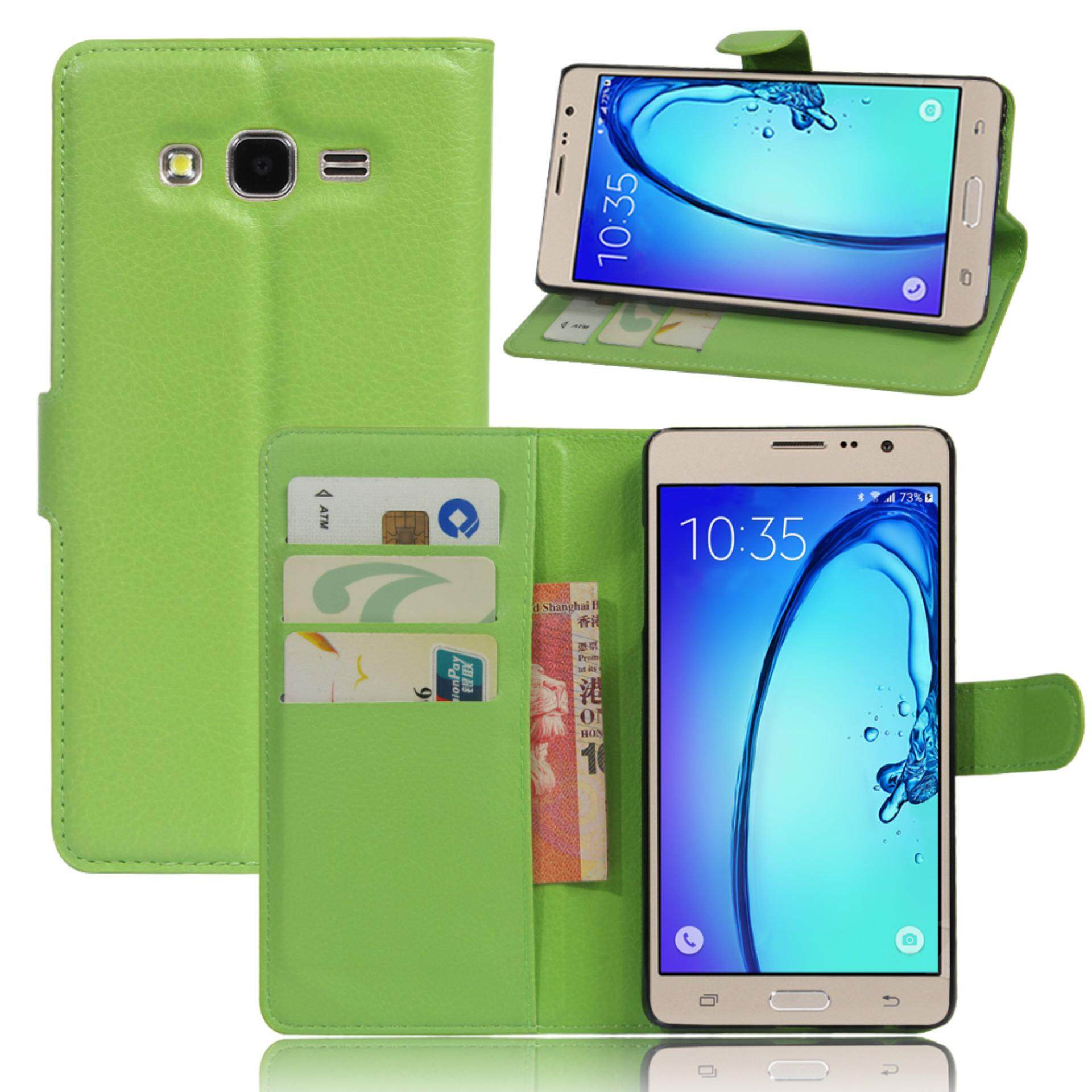 for Samsung Galaxy ON7 / ON7 Pro Case Cover - PU Leather Classic Fashion Style Wallet Flip Stand Phone Case - intl