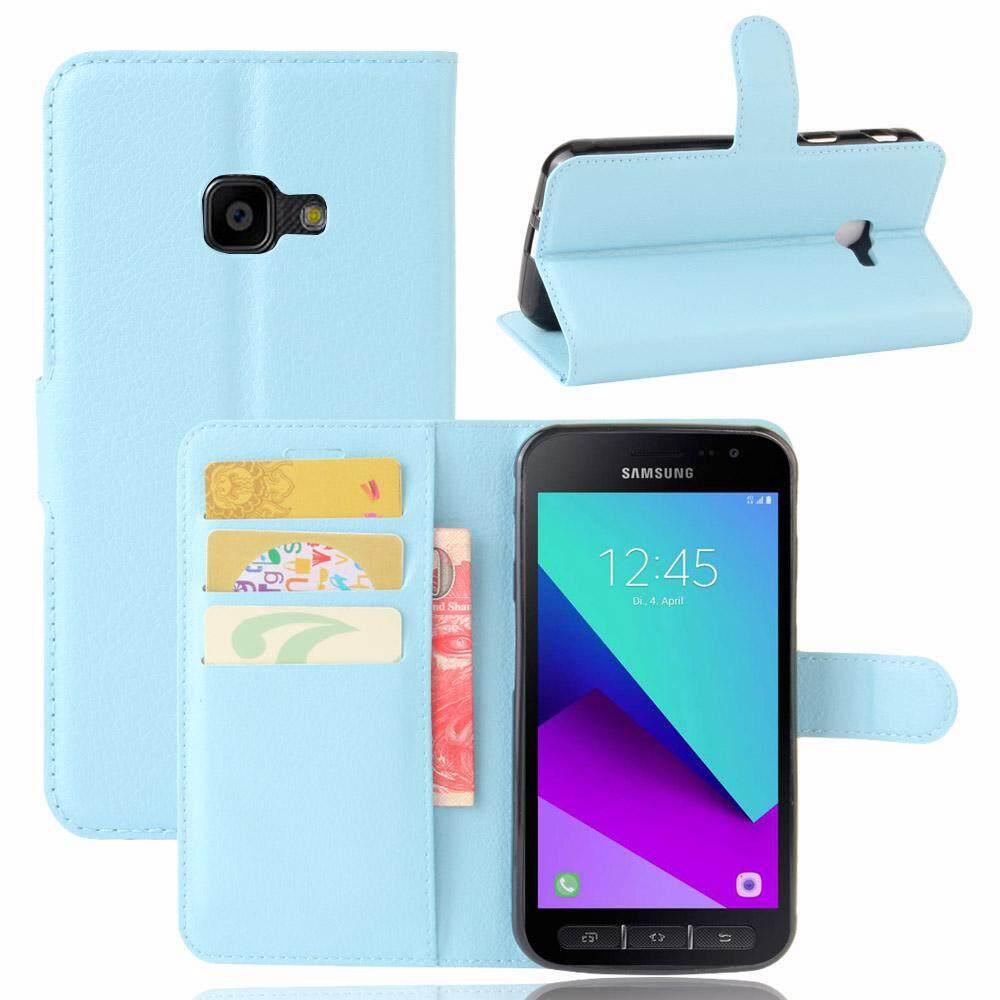 untuk Samsung Galaxy Xcover 4 G390F Case Cover-PU Kulit Klasik Fashion Style Dompet Flip Stand Phone Case- INTL