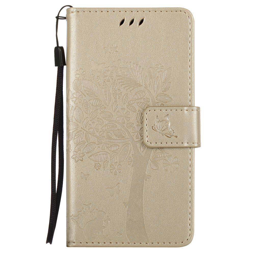 Pu Leather Wallet Flower Case Cover For Samsung Galaxy Grand Neo Red Flip Kld Kalaideng Ka Note 3 Xiaomi Redmi 3s Pro Gold Emboss Solid Color Card Slot