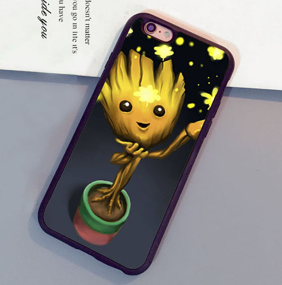 Funny Star Cute baby groot phone case high quality PC + TPU+ Rubber cover for Apple iPhone 7 - intl