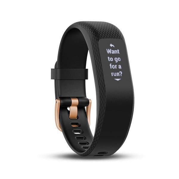 ยี่ห้อไหนดี  นครนายก Garmin vivosmart 3 สีดำกิจกรรมสมาร์ทติดตามอัตราการเต้นของหัวใจการตรวจสอบฟิตเนสเครื่องมือดำ-นานาชาติ