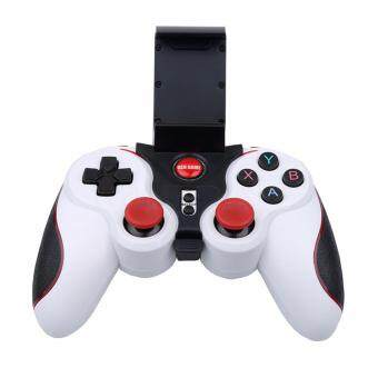 Gen Game S5 Bluetooth Wireless Game Controller Gamepad Joystick Android/IOS with PHONE HOLDER (White)