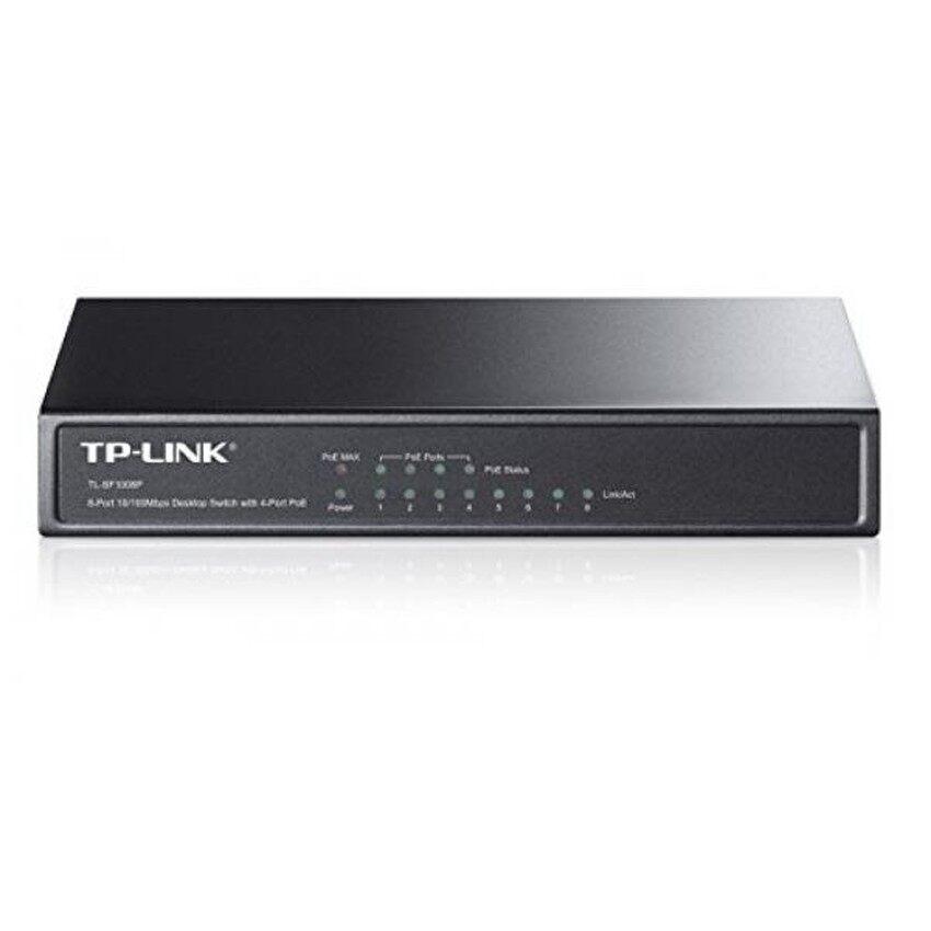 GPL/Tp-link 8-Port Fast Ethernet Switch POE Yang Tidak Terkelola dengan 57 W 4-PoE Port 802.3af Plug dan Bermain Desktop Metal Terbatas-Intl