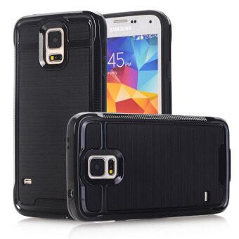 GuluGuru for Samsung Galaxy S5 Case [Brushed Armor] Candy Soft TPU+ Hard Solid PC