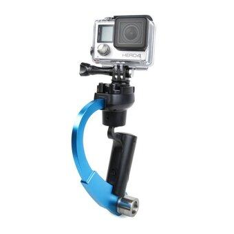 Handheld Video Stabilizer Curve Steadycam Blue for Gopro Hero 4 3Sjcam SJ4000 Xiaomi Yi Action Camera